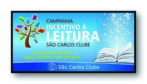 saocarlosclube campanha de incentivo a leitura site